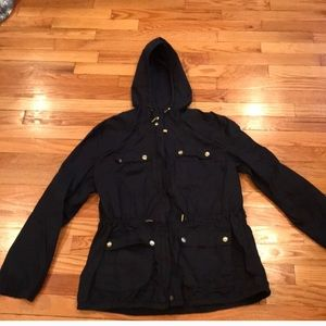 Michael Kors hooded zip up jacket navy